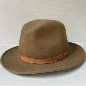 Wool Felt Water Repellant Fedora Hat